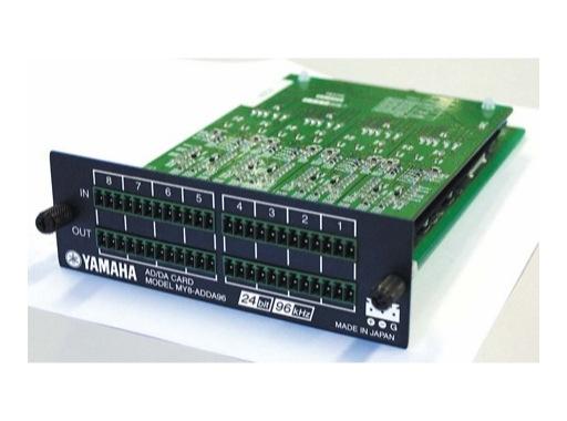 YAMAHA • Carte 8 E/S analog. Euroblock, conversion 24 bits/96kHz