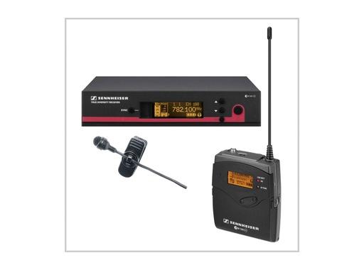 SENNHEISER • Ensemble complet émetteur cravate ME 4 + récepteur UHF