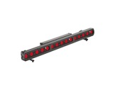 Barre LED FOS 100 SOLO 15 LEDs Full RGBW 28° IP65 noire • DTS-barres-led