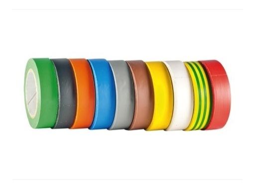 SCAPA • Adhésif PVC 10 rouleaux assortis 2 noirs 15mm x 10m 122952