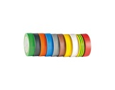 Adhésif PVC 10 rouleaux assortis 15mm x 10m 122952 • SCAPA-adhesifs