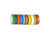 SCAPA • Adhésif PVC 10 rouleaux assortis 2 noirs 15mm x 10m 122952-consommables