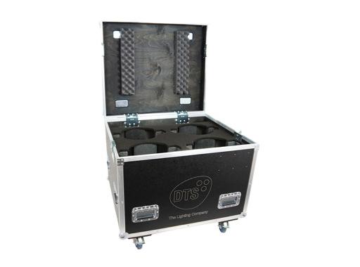 DTS • Flight case Pro pour 4 lyres 4 RAPTOR / JACK / NICK NRG 1201