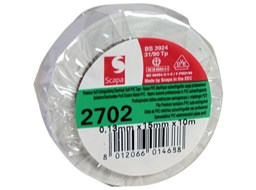 SCAPA • Adhésif PVC blanc 15mm x 10m 102394