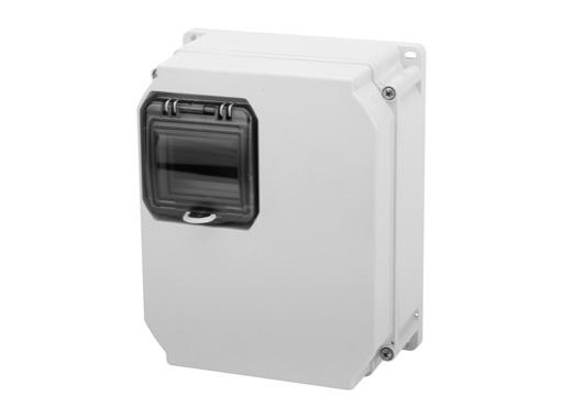 PCE • Boitier thermoplastique + fenetre 4mod 255x204x114