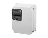 PCE • Boitier thermoplastique + fenetre 4mod 255x204x114-cablage