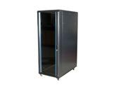Rack serveur acier noir 22U, profondeur 600mm, roulettes-flight-cases