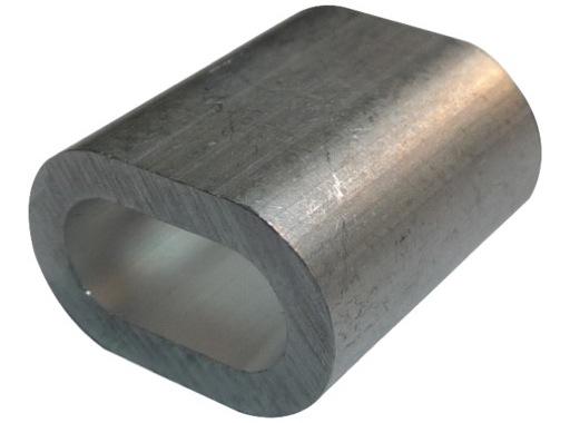 MANCHON ALU • Ø 8 mm sac de 100 pour câble 8 mm