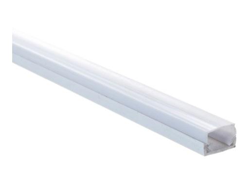 ESL • Profil PVC 15 mm Micro pour Led 2.00m + diffuseur opaline
