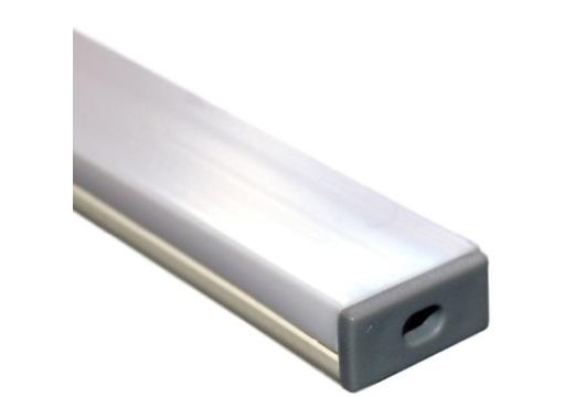 ESL • Profil PVC 18 mm Micro pour Led 2.00m + diffuseur opaline