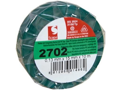 100 rouleaux PVC vert foncé 15mm x 10m 103378 • SCAPA