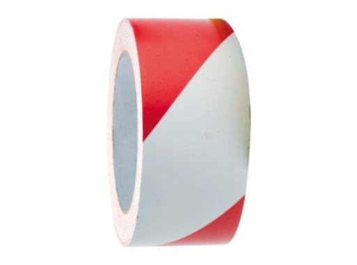 Adhésif signalisation rouge blanc 50mm x 33m • SCAPA