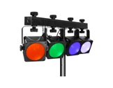 PROLIGHTS TRIBE • Kit Barre 4 projos leds LUMI4COB complet-eclairage-spectacle