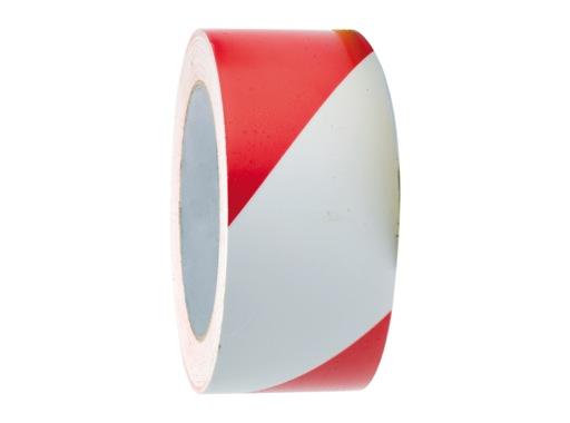 SCAPA • Ruban de signalisation rouge/blanc sécurité sans colle 50mm x 100m