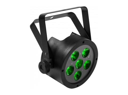Boite ambre à LED FLATPAR6H RVBWAP 6 x 12W