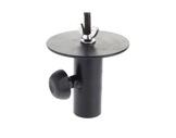 Coupelle noire pour tube Ø 35 mm avec tourelle Ø 110 mm, boulon M10