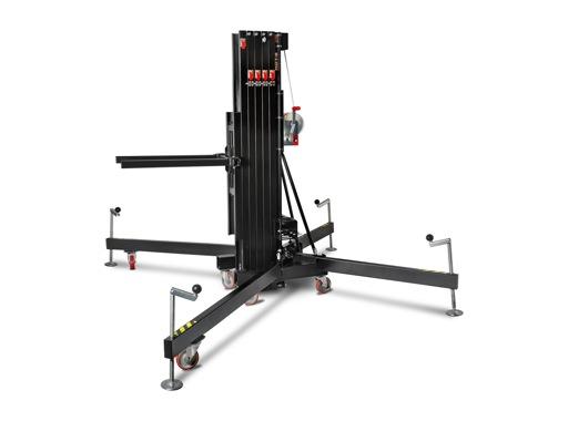 VMB • Pied noir HDT-8 à fourches H 8,20m Charge 350Kg Forks adaptateur