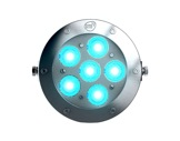 Projecteur immergeable DIVE 6 sur lyre 6 LEDs Full RGBW 22° IP68 • DTS-projecteurs-immergeables