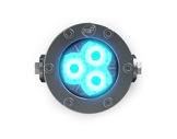 Projecteur immergeable DIVE 3 sur lyre 3 LEDs Full RGBW 22° IP68 • DTS-projecteurs-immergeables