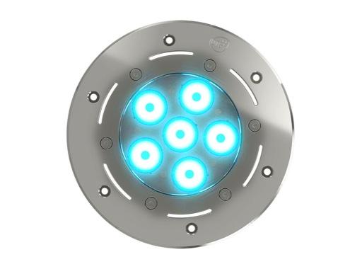 DTS • Projecteur immergeable DIVE 6 encastré 6 LEDs Full RGBW 22° IP68