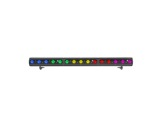 Barre LED FOS 100 DYNAMIC 15 LEDs Full RGBW 28° 1 m IP65 noire • DTS-barres-led