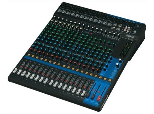 YAMAHA • Console analogique 20 entrées, 16 Mic, Line: 12m + 4st, 4 aux.