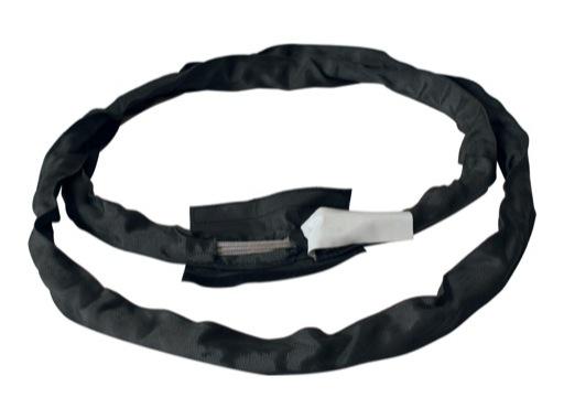 Sangle tubulaire noire ame acier Long 100 cm CMU 2T