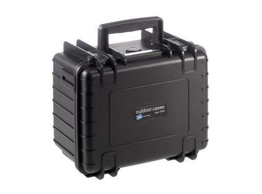 OC • Valise étanche noire 250 x 175 x 155 mm int avec mousse 6,64L