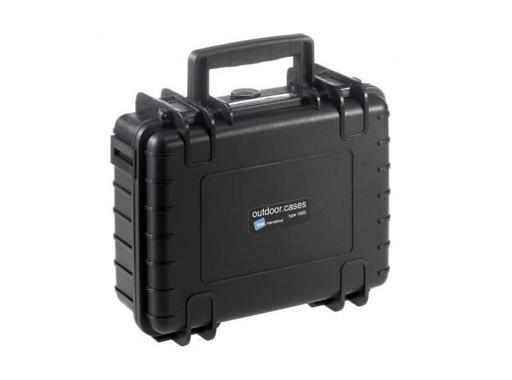 OC • Valise étanche noire 250 x 175 x 95 mm int avec mousse 4,14L