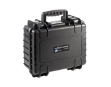 OC • Valise étanche noire 330 x 235 x 150 mm int avec mousse 11,65L-valises-etanches