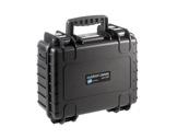 OC • Valise étanche noire 330 x 235 x 150 mm int avec mousse 11,65L-flight-cases