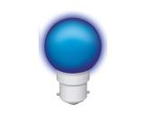 Lampe LED sphérique guirlande bleu 1W 230V B22d IP20-lampes-led