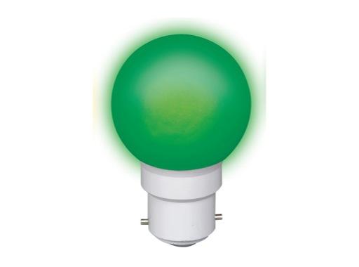 LED sphérique guirlande verte 0,8W 230V B22d