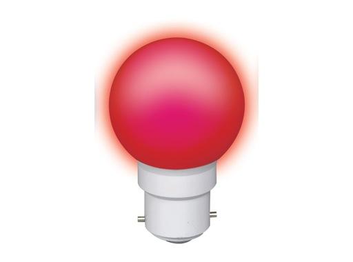 LED sphérique guirlande rouge 0,8W 230V B22d