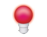 Lampe LED sphérique guirlande rouge 0,8W 230V B22d IP20-lampes-led