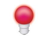 Lampe LED sphérique guirlande rouge 1W 230V B22d IP20-lampes-led