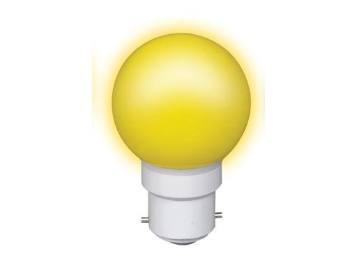 LED sphérique guirlande jaune 0,8W 230V B22d