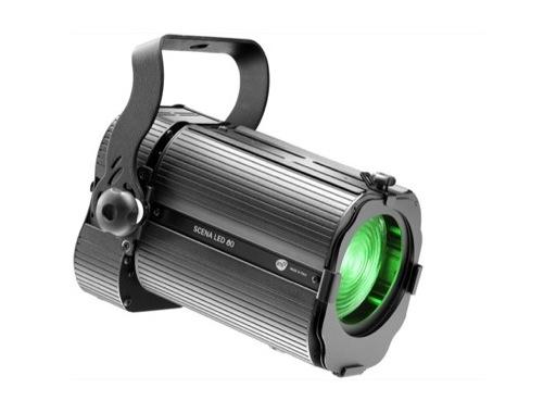 Projecteur fresnel LED noir Full RGBW DTS SCENA LED