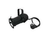 Projecteur PAR16 noir CE 230V GU10 + porte filtre + câble + fiche moulée-eclairage-spectacle