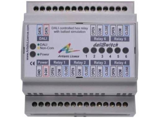 ARTISTIC LICENCE • Dali Switch -Rail Din 6 relais NO/NC DALI