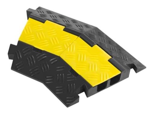 PROTRUSS • Angle 45° pour passage de câbles 2 canaux TEMA75