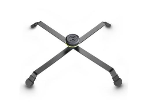 Pied de sol noir • Pliable 385 x 355 mm Ht 40 mm, en acier