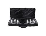 PROLIGHTS • Kit de 6 projecteurs blanc LED BATPINIR 1x2W CW 5° en valise, DC9V-eclairage-spectacle