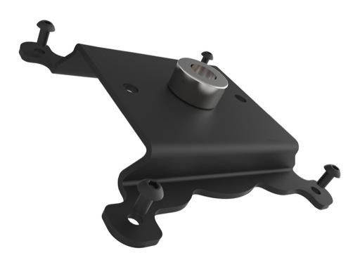 EXALUX • Platine pour montagearrière équipée d'un insert M10