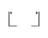 EXALUX • Branche de lyre H147 jusqu'à 3 BRIKS-eclairage-spectacle