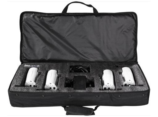 PROLIGHTS • Kit de 4 projecteurs blanc LED BATWASHIR 1x10W RGBAWP/FC, en valise