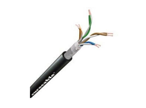 Câble ethernet • noir ø 8,5 mm STP cat 6 prix au mètre