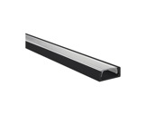 ESL • Profil alu noir Micro pour Led 2.00m + diffuseur transparent-profiles-et-diffuseurs-led-strip