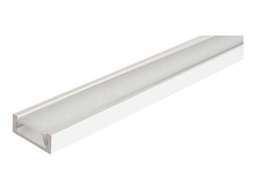 ESL • Profil alu blanc Micro pour Led 3.00m + diffuseur opaline