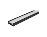 ESL • Profil alu noir Micro pour Led 3.00m + diffuseur opaline-eclairage-archi--museo-